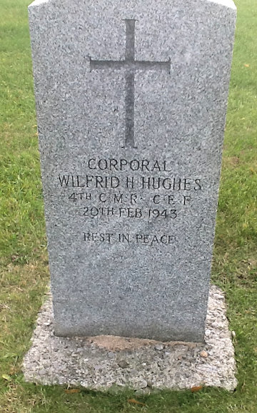 W H Hughes headstone, St.Augustine's Seminary, Scarborough, Ont.